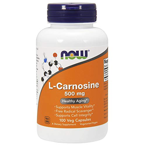 NOW Supplements, L-Carnosine (Beta-Alanyl-L-Histidine) 500 mg, Healthy Aging, 100 Veg Capsules