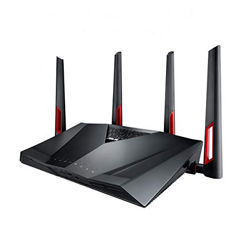 Asus RT-AC88U Gaming Router AiMesh WLAN System, WiFi 5 AC3100, Gaming Engine, 8 x Gigabit LAN, Link Aggregation, 1.4 GHz DC CPU, Alexa & IFTTT & App Steuerung, AiProtection, USB 3.0