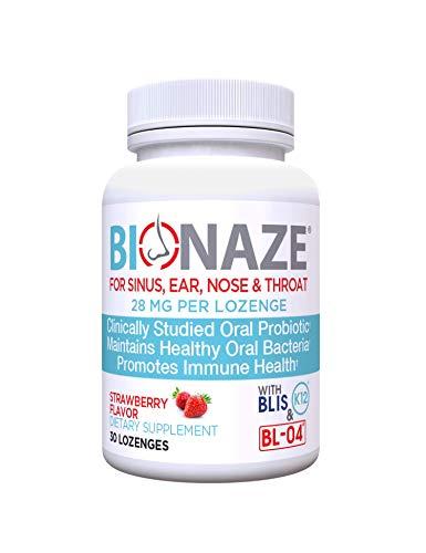 Bionaze Oral Sinus Probiotic w/BLIS K12 & BL-04 for Sinus,...