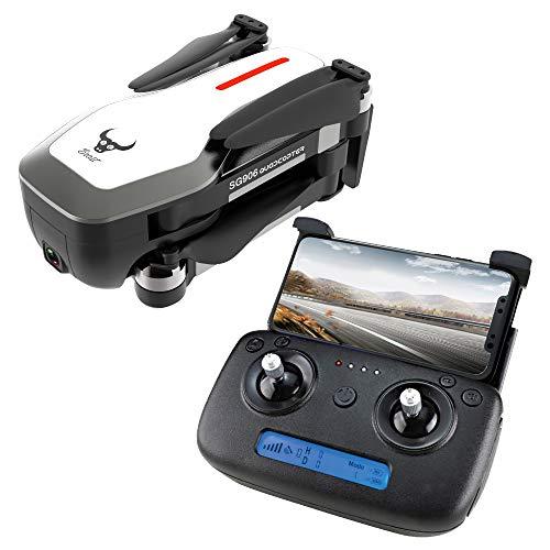 ETbotu Drone, ZLRC Beast SG906 GPS 5G WIFI FPV con 4K Ultra Clear Camera Brushless Selfie pieghevole RC Drone Quadcopter RTF bianca