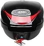 XIAYU ABS Casco de la Motocicleta Vespa Top Box contenedor Duro de la Caja 30L Moto del Maletero, a Prueba de Agua/desmontaje rápido, Color: Blanco Prohibido Fumar Tronco Portador de Montaje en Rack