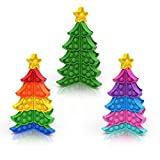 Bubble Fidget Sensory Popper Toy Kids,Squeeze Stress Anxiety Restless Toys Relieving Toys for Girls Boys Adults,Decompression Toys for Special Education/Autism/ADHD/ADD,3 Pack 3D Christmas Trees Toys