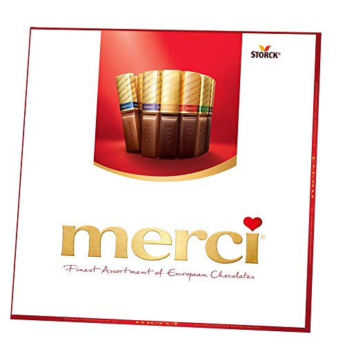 MERCI Finest Assortment of Eight European Chocolates, 7 Ounce Box | Chocolate Gift Box for Holiday Gifts, Teacher Gifts, Gifts for Mom, Gifts for Dad, Thank You Gifts or Personalized Gifts (2 Pack)
