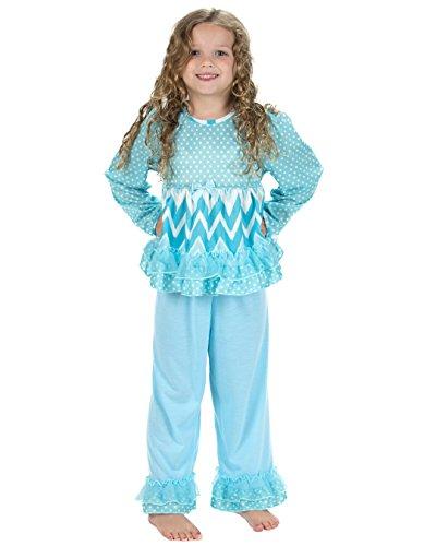 Laura Dare Baby Girls All The Rage Blue Long Sleeve Pajamas, 12m