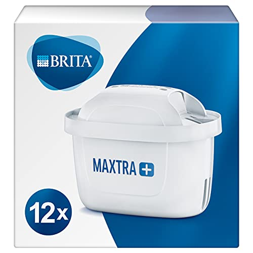 BRITA 1023130 Wasserfilter-Kartusche MAXTRA+ 12er Pack – Kartuschen für alle BRITA Wasserfilter zur Reduzierung von Kalk, Chlor & geschmacksstörenden Stoffen im Leitungswasser