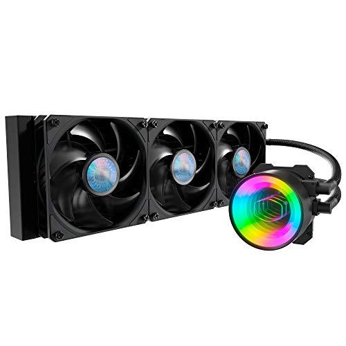 Cooler Master MasterLiquid ML360 Mirror ARGB CPU Dissipatore Liquido, Sistema di Raffreddamento ad Acqua AIO, 3x120mm Ventole SickleFlow V2, Radiatore 360mm Potenziato, Compatibile Socket AMD e Intel