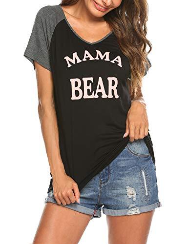 Ekouaer-Women-Maternity-Shirt-Funny-Print-Side-Ruched-Raglan-Short-Sleeve-Cute-Pregnancy-Top