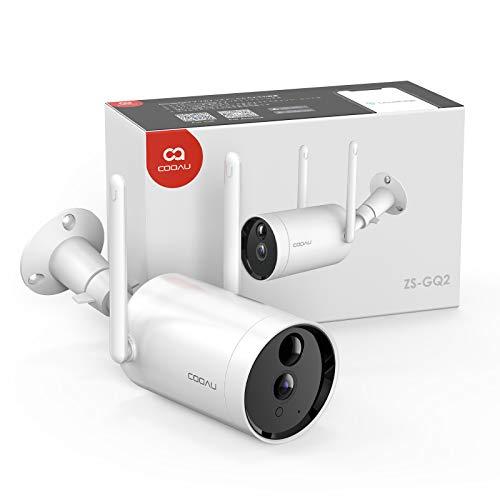 【2021最新型電池式】 COOAU防犯カメラ 屋外 ワイヤレス/WiFi 1080P 10400mAh大容量バッテリー 電池式 監視...