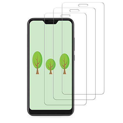 [3 Pezzi] Vetro temperato per Xiaomi Mi A2 Lite,Pellicola Protettiva per Xiaomi Mi A2 Lite[durezza 9H][resistere ai Graffi][Niente Bolle] - Trasparente