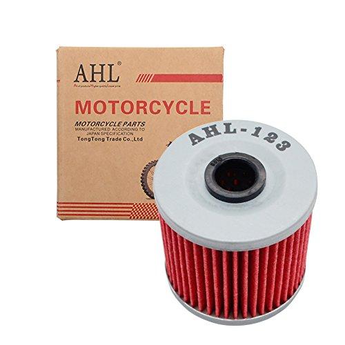 AHL 123 Oil Filter for Kawasaki KLF300 Bayou 4X4 300 1989-2004 / KLF220 Bayou 215 1988-2001 / KLF300 Bayou 4X4 300 1989-2004 / KEF300 Lakota 300 1995-2003 / KLT250 250 1982-1985