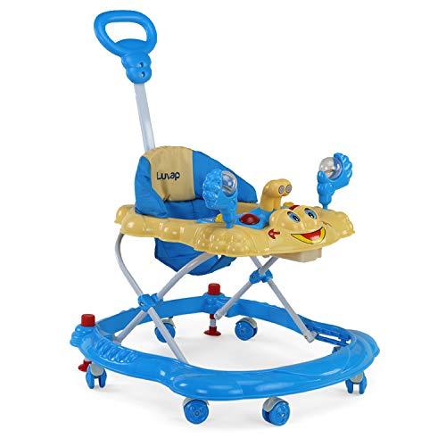 Luvlap Sunshine Baby Walker, Height Adjustable with Light & Music Toys, 6m+ (Blue)