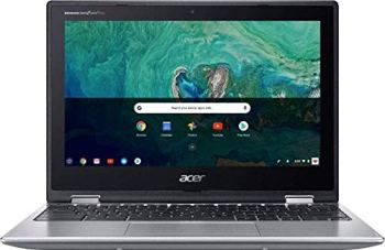 """Acer Chromebook Spin 11 2-in-1 Touchscreen Laptop Computer_ 11.6"""" HD_ Intel Celeron N3350 up to 2.4GHz_ 4GB LPDDR4 RAM_ 32GB eMMC_ 802.11AC WiFi_ Type-C_ Chrome OS_ Sparkly Silver_ BROAGE Mouse Pad"""