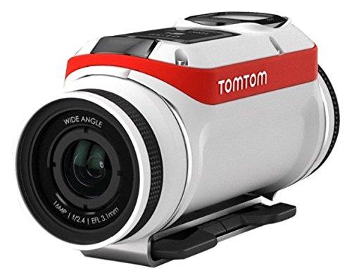 Tom Tom BV Bandit Adventure Pack Action Camera, Video 4K, 16 MP, 1080p/60 fps, 720p/120 fps, GPS, Sensori Integrati, Wi-Fi, Impermeabile, Bianco/Rosso