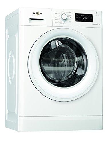 Whirlpool FWG91284W IT Lavatrice (Libera installazione, Carica frontale, 9kg,1200Giri/min, A+++),...