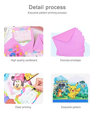 Image 3 - Qemsele Invitations, 30 Cartes + 30 Enveloppes pour fêtes d'anniversaire d'enfants Anglais Invitation à Une fête d'anniversaire pour Enfant garçons et Filles (4.3 * 5.5 Pouces (11 * 14cm), LOL)