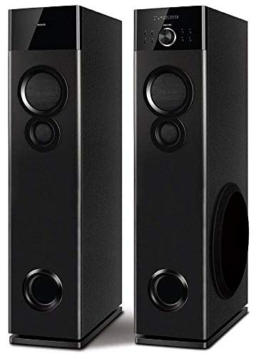 Philips SPA9120B/94 Bluetooth Tower Speakers with Mic for Karaoke(Black)