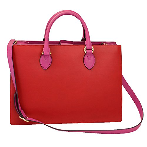 """41mvBBOB3yL Size: 15.4""""x 11""""x 5.3"""", 39cmx 28cmx 13.5cm Color: Red/ Pink Material: Leather"""