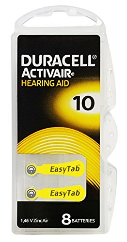 Duracell Activair Hearing aid Batteries: Size 10 (Pack OF 80)