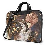 XCNGG One Punch Man Genos Anime Laptop Hombro Messenger Bag Tablet Computadora Mochila de Almacenamiento Bolso 14 Pulgadas