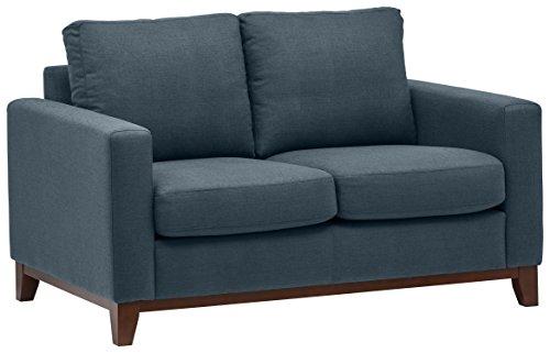 Marchio Amazon -Rivet, divanetto amorino con base esposta in legno, modello North End, larghezza 150...