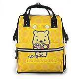 Mochila para pañales – Lindo Winnie The Pooh Multifunción impermeable mochila de viaje de maternidad bebé cambiador bolsas