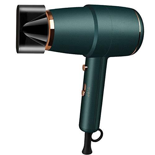 Asciugacapelli a martello da 1500 W, asciugacapelli per parrucchiere/barbiere a temperatura domestica, regolazione a 3 livelli con 1 collettore d'aria, asciugacapelli costante,Verde