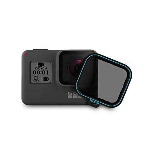 AuyKoo Filtro polarizzatore Circolare polarizzatore Filtro CPL Filtro + copriobiettivo per GoPro Hero 7 Black/Hero 5 Black/Hero 6 Black