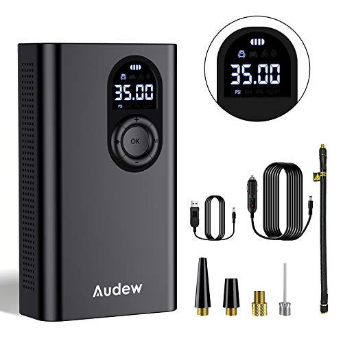 Audew Upgraded Luftkompressor Elektrische Pumpe Auto Akku mit 3 * 2000mAh...