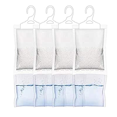 ❤Effctive Absorbing (No Scent): Dehumidifier bags use Spherical calcium chloride to enlarge the area to absorb quickly.,Protects clothes and items from excess moisture damage. 🌱Eco-friendly: The moisture is contained in a little plastic bag at the bo...