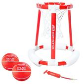 GoSports Splash Hoop 360 Floating Pool Basketball Game   Includes Water Basketball Hoop, 2 Balls and Pump