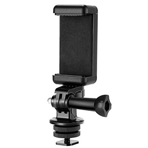 Neewer Kit Adattatore per Fotocamera con Attacco a Slitta per GoPro Hero 9 8 Max 7 6 5, DJI OSMO Action, iPhone X 8 7 6 Samsung da Attaccare su Fotocamera DSLR o Foto ad Anello