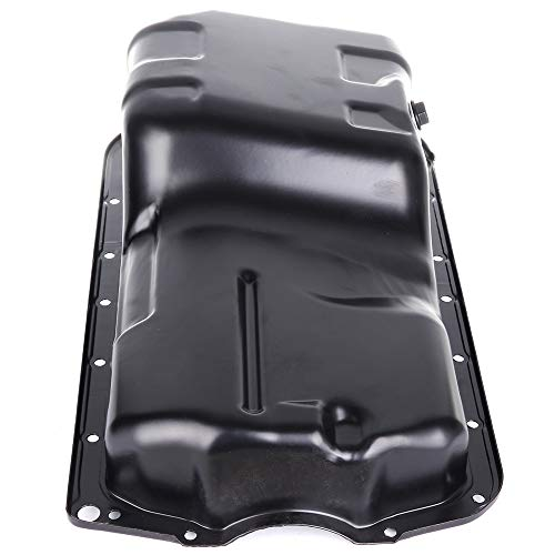 SCITOO Compatible with 264-406 Engine Oil Pan Steel Assembly Fits 98-02 L6 5.9L 6.7L Cummins Diesel Honda Accord Acura CL Honda Odyssey Pickup Truck