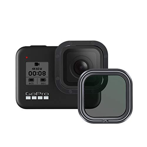 AuyKoo Filtro obiettivo CPL per GoPro Hero 8, CPL Obiettivo fotocamera Filtro polarizzatore Filtro protezione obiettivo per GoPro Hero 8 Accessori