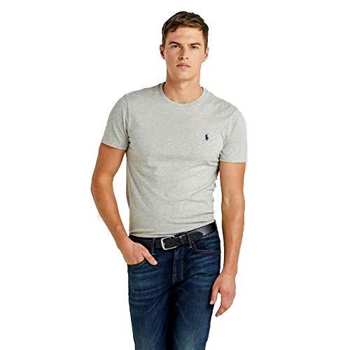 Ralph Lauren, Maglietta da uomo, vestibilità personalizzabile Grigio melange XXL