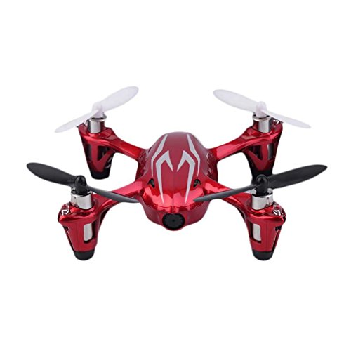 Hubsan X4 H107 C LED Mini Drone Quadcopter RTF Mode 2 con fotocamera 2 MP RC Drone con...