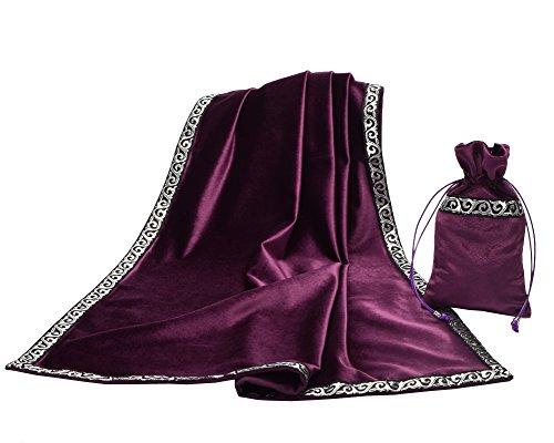 BLESSUME Altar Tarot Table Cloth Divination Wicca Velvet...