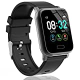 L8star Fitness Tracker HR, Activity Tracker with 1.3inch IPS Color Screen Long Battery Life SmartWatch with Sleep Monitor Step Counter Calorie Counter Smart Bracelet for Women Men (Black)
