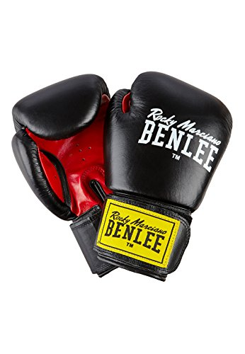 Ben Lee Rocky Marciano Fighter - Guante de Boxeo (Cuero) Negro Negro Talla:12 oz
