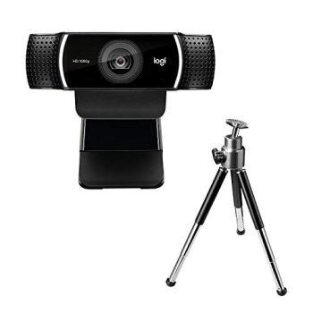 Logitech C922 Pro Stream Webcam, Streaming Ultrarapide HD 1080p/30ips/HD 720p/60ims, Audio Stéréo, Correction HD, Mise au Point Automatique, YouTube, Twitch, XSplit, PC/Mac/Portable/Macbook/Tablette