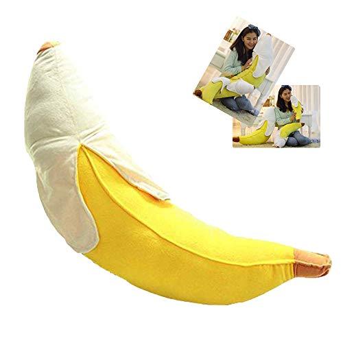 STONCEL Creative Soft Peeled Banana Plush Stuffed Pillow Cushion Doll Toy Gift (100cm)