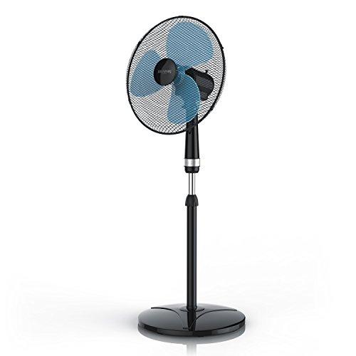 Brandson - Standventilator 40cm - Ventilator höhenverstellbar bis 122cm - hoher Luftdurchsatz - 3 Verschiedene Geschwindigkeitsstufen - Oszillationsfunktion ca. 80°