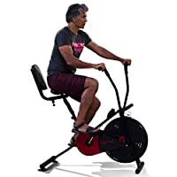 Lifelong air-bike comes with high-density foam hand grips and slip resistant pedals lend to both comfort and performance.This air bike comes with the back support, adjustable seat height and foot lock pedal which makes your exercise stress-free. It h...