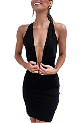 Material: this item is made of Good quality knitted with soft touch feeling and exquisite handicraft Features: sexy backless with criss cross,sleeveless ,deep v-neck OCCASION: Nightclub, Party, Night Out, Clubwear, Cocktail, Evening, Dating and Other...