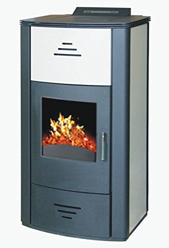 Pelletofen wasserführend Vittoria PBS 7-18 kW , Kessel , Bafa Förderung 2000 EUR , Farbe: champagner