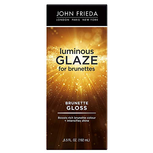 John Frieda Brilliant Brunette Luminous Glaze, 6.5 Ounce Color Enhancing Glaze, Designed to Fill Damaged Areas for Smooth, Glossy Brown Color