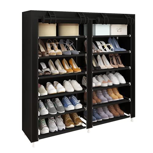 UDEAR Shoes Rack Organizador de Tela de Zapatos, Zapatero 7...