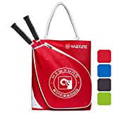 YAAGLE Tennis Bag-Tennis Racket Bag/Tennis Tote Bag Holds 2 Rackets in Padded Compartment | Tennis Bags for Men or Women,Youth and Adults (red)