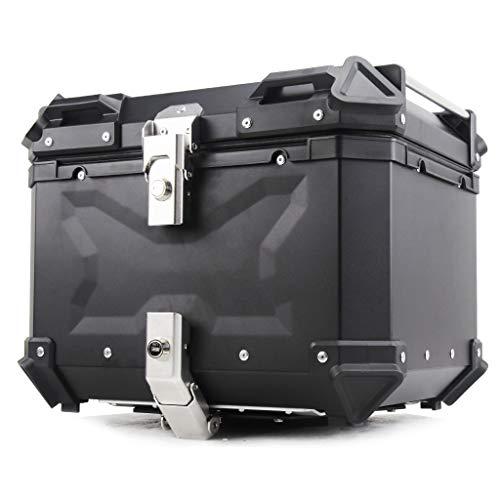 spee バイクトップケース リアボックス トップケース アルミ製 大容量45L ツーリング トップケース バイク 取り付けベース 鍵2本 メッシュの内張り ブラック