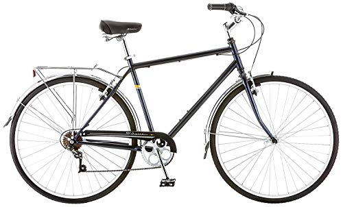 Schwinn Wayfarer Adult Bike Hybrid Retro-Styled Cruiser, Step-Over or Step-Through frame option, 7-Speed Drivetrain, Rear Rack, 700C Wheels, Multiple Colors