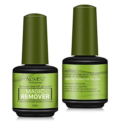 (2-pack) Removedor de esmalte de uñas Magic Gel para quitar el esmalte de uñas rápido y fácil - Sin papel de aluminio, sin envoltura, retirado de forma segura y suave sin causar daño